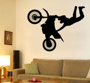 Buy Decor Kafe Decal Style Flying Bicycle Wall Sticker online