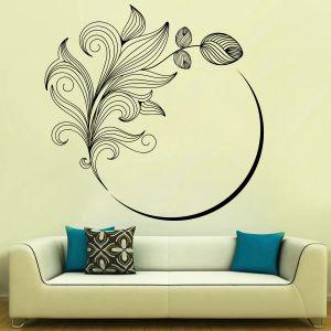 Buy Decor Kafe Decal Style Flower Swirl Wall Sticker online