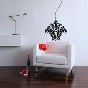 Buy Decor Kafe Decal Style Lamp Floral Wall Sticker online