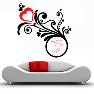 Buy Decor Kafe Decal Style Love Is My Life Wall Sticker online