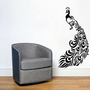 Buy Decor Kafe Decal Style Peacock Wall Sticker online