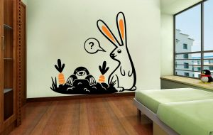 Buy Decor Kafe Decal Style Rabbit In A Jungle Wall Sticker online