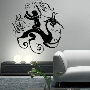 Buy Decor Kafe Decal Style Creative Abstract Design Wall Sticker online