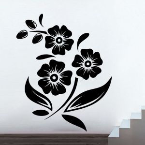 Buy Decor Kafe Decal Style Sunflower Branch Small Wall Sticker online