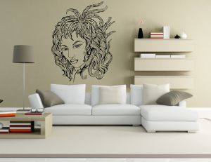 Buy Decor Kafe Decal Style Girl Abstract Wall Sticker online