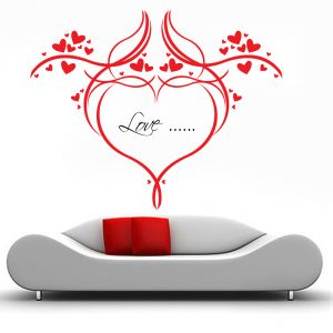 Buy Decor Kafe Decal Style Love Heart Floral Wall Sticker online