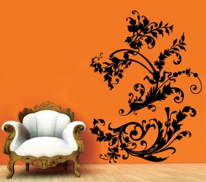 Buy Decor Kafe Decal Style Floral Of Branch Wall Sticker online