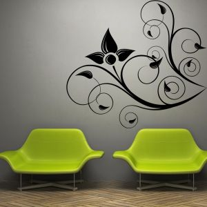 Buy Decor Kafe Decal Style Corner Swirl Flower Wall Sticker online