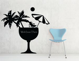 Buy Decor Kafe Decal Style Wish I Was There Wall Sticker online