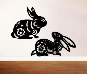 Buy Decor Kafe Decal Style Rabbits Wall Sticker online