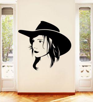 Buy Decor Kafe Decal Style Beautiful Female Portrait Wall Sticker online