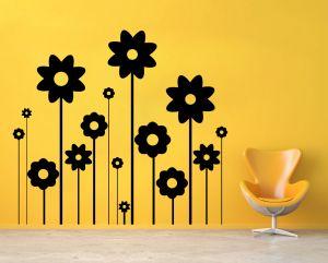 Buy Decor Kafe Decal Style Sunflowers Wall Sticker online