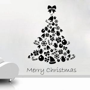Buy Decor Kafe Decal Style Christmas Gifts Tree Wall Sticker online