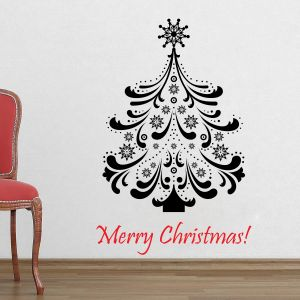 Buy Decor Kafe Decal Style Christams Tree Wall Sticker online