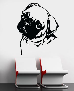 Buy Decor Kafe Decal Style Attractive Pug Wall Sticker online