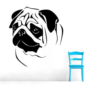 Buy Decor Kafe Decal Style Pug Wall Sticker online