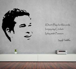 Buy Decor Kafe Decal Style Tendulkar Wall Sticker online
