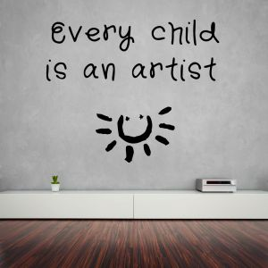 Buy Decor Kafe Decal Style Child Is An Artist Small Wall Sticker online