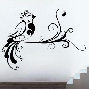Buy Decor Kafe Decal Style Creative Bird Medium Wall Sticker online