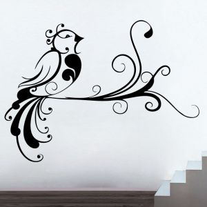 Buy Decor Kafe Decal Style Creative Bird Small Wall Sticker online