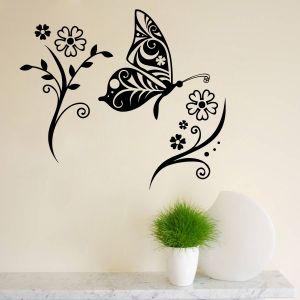 Buy Decor Kafe Decal Style Butterfly Medium Wall Sticker online