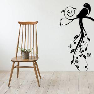 Buy Decor Kafe Decal Style Bird Swirls Medium Wall Sticker online