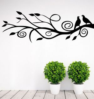 Buy Decor Kafe Decal Style Branch & Birds Large Wall Sticker online