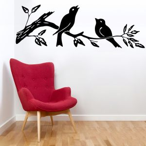 Buy Decor Kafe Decal Style Sparrow On Branch Small Wall Sticker online