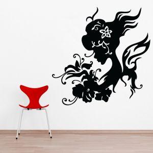Buy Decor Kafe Decal Style Women Swirls Medium Wall Sticker online