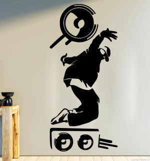 Buy Decor Kafe Decal Style Music Men Medium Wall Sticker online