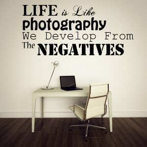Buy Decor Kafe Decal Style Life Is Photography Small Wall Sticker online