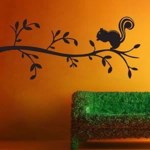 Buy Decor Kafe Decal Style Squirrel On Bunch Medium Wall Sticker online