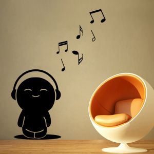 Buy Decor Kafe Decal Style Toy Music Notes Medium Wall Sticker online