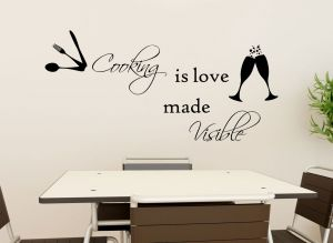 Buy Decor Kafe Decal Style Cooking Is Visible Medium Wall Sticker online