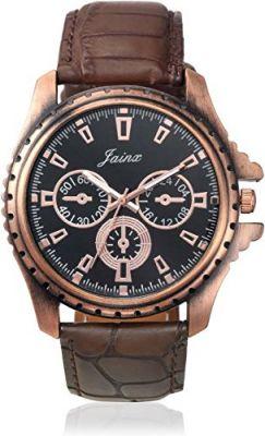 Buy Jainx Chronograph Pattern Black Dial Analog Watch For Men & Boys - Jm178 online