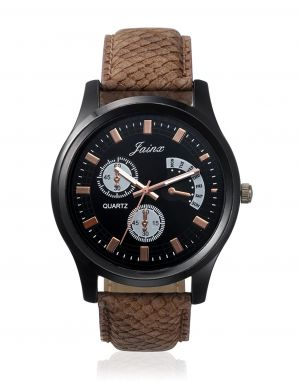 Buy Jainx Youth Black Dial With Chronograph Pattern Analog Watch For Men & Boys - Jm188 online