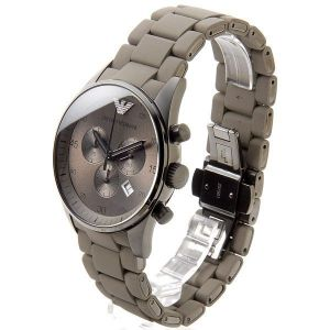 Buy Armani Round Grey Metal Watch For Men online