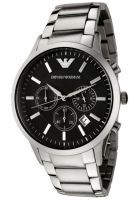 Buy Imported Emporio Armani Ar2434 Stainless Steel Black Dial Men Wrist Watch online