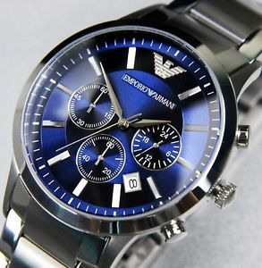 best watches brands for mens in best watchess 2017 armani 2448 blue and silver watch for men best s