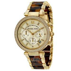 Buy Michael Kors Gold-tone And Tortoise Shell online
