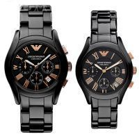 82a34415bb328 Buy Imported Emporio Armani Couple Watches, Black Ceramic Pair online