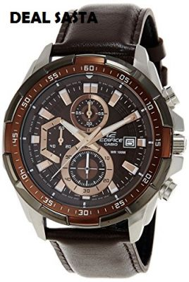 Buy Casio Edifice 539 Brown Dial With Brown Strap Watch For Men online