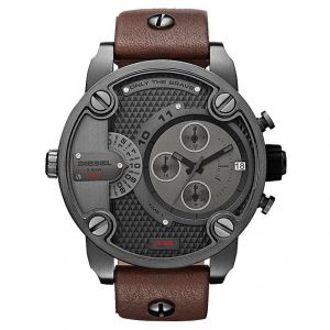 Buy Imported Diesel Dz7258 Little Daddy Grey Chronograph Men's Wrist Watch Original Box online