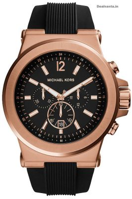 Buy Michael Kors Black Rubber Chronograph Mens Watch online