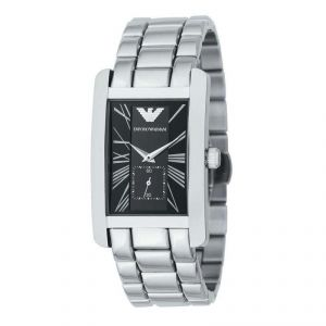 Buy Imported Emporio Armani Ar0156 Black Dial Stainless Steel Analog Mens Watch online