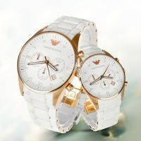 Buy Imported Emporio Armani  Couple, White Sportivo Chrono Pair online