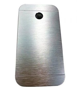 Buy Tos Motomo Back Cover Silver For Motorola Moto E online