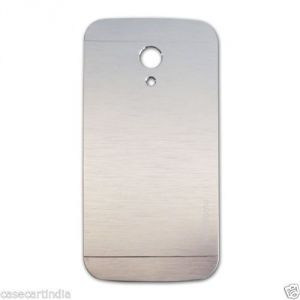 Buy Tup Motomo Metal Back Case Cover For Motorola Moto G2 Silver online