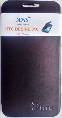 Buy Ans Caller ID Table Talk Flip Cover Case For Htc Desire 816 (grey) online
