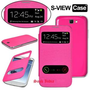 Buy Samsung Galaxy Grand Neo Gt-i9060 S View Flip Cover (pink) online